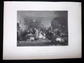 After David Wilkie C1870 Antique Print. The Rent Day